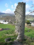 The remnants of the Castle at Crickhowell