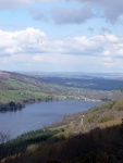 The view over Talybont Reservoir from Tor-y-Foel