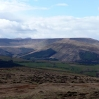 Looking over Dyffryn Crawnon valley towards Pen-y-Fan and Cribyn
