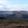 Looking over Dyffryn Crawnon valley towards Pen-y-Fan and Cribyn