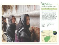 Kiva Calendar 2008 - Fatima Syed Shah Esmil (February)