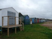 Beach huts at Whitstable