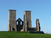 The remains of St Mary's Church at Reculver