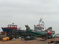Fishing boats on the beach at Deal