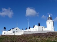 The Lizard Lighthouse and foghorn
