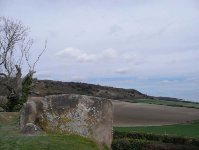 The view across to the North Downs from Coldrum Stones Long Barrow