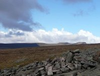 The view north west from a cairn on Craig-y-Fan-Ddu looking towards Pen-y-Fan
