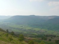 Edale (the start of the Pennine Way) from Back Tor