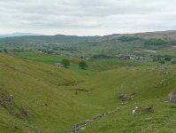 The view back to Horton in Ribblesdale at the start of day 8