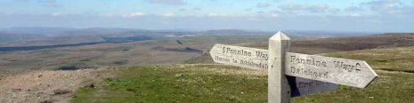 The view north from the top of Pen-y-ghent header image (from day 7)