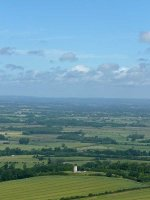 Firle Tower and the view north from Firle Beacon
