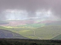 The view East from the mist on top of Lowther Hill (the Southern Upland Way's highest point)