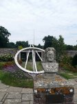 Sculpture of John Flamsteed (the first Astronomer Royal) in the grounds of Herstmonceux Castle
