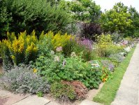 Mixed border at Herstmonceux Castle