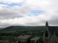 Coast to Coast - Day 10 - the view over Reeth into Swaledale
