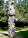 Yorkshire Sculpture Park, June 2007.  Totem Pole, 1982 Red Cedar.  Tim Paul