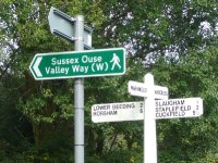 Sussex Ouse Valley Way - a signpost near Furnace Pond