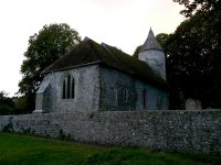 The church at Southease, with its round tower