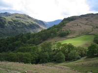 Coast to Coast - Day 2 - the view into Borrowdale on the way down Honister Pass