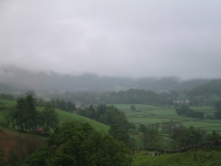 Coast to Coast - Day 4 - low cloud shrouded all the fells around Grasmere