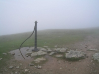 Coast to Coast - Day 4 - many of the cairns could be mistaken for sheep in the mist, thankfully this post was easier to recognise - and did not move!