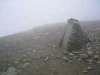 Coast to Coast - Day 4 - the monument marking the start of the route down to Striding Edge