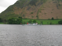 Coast to Coast - Day 4 - Steamer Raven leaving Howtown