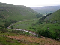 Coast to Coast - Day 9 - patches of bluebells and stones on the other side of the valley
