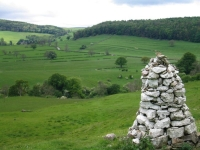 Coast to Coast - Day 10 - the white cairn and the view back along the path