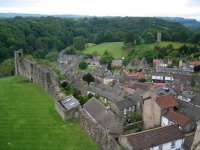 Coast to Coast - Day 10 - a view over the town down to the river Swale