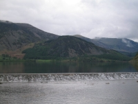 Coast to Coast - Day 2 - the weir at the foot of Ennerdale water