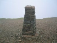 Coast to Coast - Day 4 - the triangulation point on the top of Helvellyn