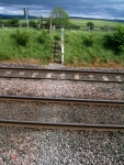 Coast to Coast - Day 11 - about the steepest slope all day across the railway