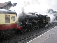 Coast to Coast - Day 14 - train at Grosmont Station of the North Yorkshire Moors Railway
