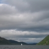 Coast to Coast - Day 4 - the view down Ullswater with a loan sailing boat