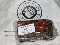 Melton Mowbray Hunt Cake, an individual wrapped piece