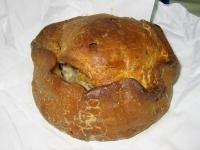 The famous Melton Mowbray pork pie from Dickinson & Morris Ye Olde Pork Pie Shoppe in Melton Mowbray