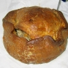 The famous Melton Mowbray pork pie from Dickinson & Morris Ye Olde Pork Pie Shoppe in Melton Mowbray