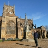 David standing outside the Abbey at Sherborne