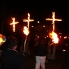 More crosses of remembrance passing through the village on the eve of Remembrance Sunday