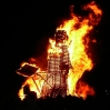 The bonfire this year was a wizard, though I tried to start the rumour (unsuccessfully) that they were burning Harry Potter