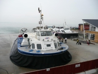 A hovercraft at Ryde