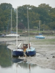 Boats at low tide in Wooton Creek, IoW