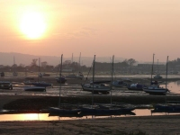 The sunset over Bembridge Harbour, IoW