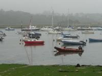 The morning mist over Bembridge Harbour
