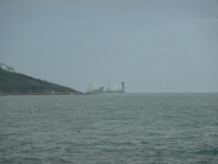 The first sight of The Needles from Totland Bay