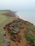 The crumbling cliffs of Brighstone Bay, IoW