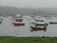 The morning mist over Bembridge Harbour