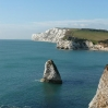 The view back across Freshwater Bay, IoW