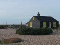 Derek Jarman\'s garden, Prospect Cottage, Dungeness
